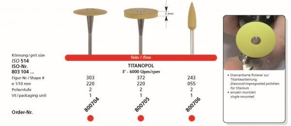 Spezial Polierer TITANOPOL - diamantierter Polierer fein für die Titanbearbeitung