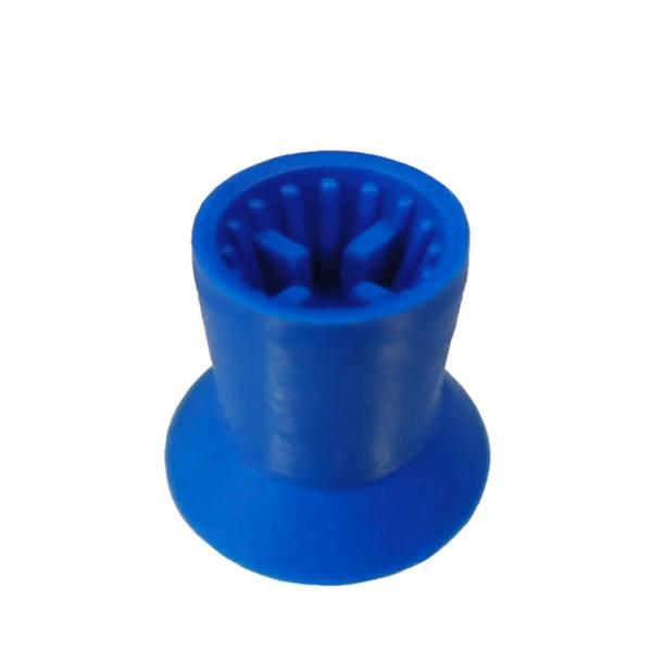 Gummipolierer Mini 4 Lamellen, gerippt, Hart
