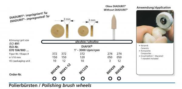 Polierinstrument DIAFIX - DIADUR Imprägniet 5µ - für Keramik und Komposite