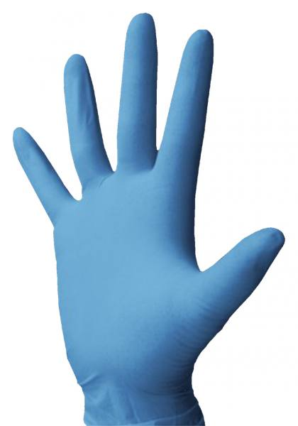 Einmalhandschuhe aus Nitril, blau