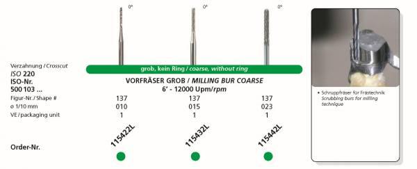 Frästechnik Vorfräser Grob -Schruppfräse 0°