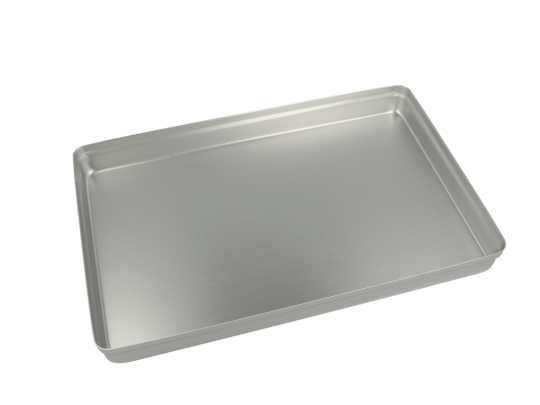 Aluminium Norm-Tray Deckel, ungelocht silber