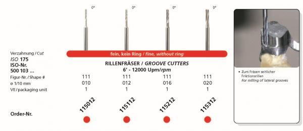 Frästechnik Rillenfräser 0° fein - Zum Fräsen seitlicher Friktionsrillen