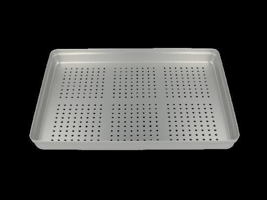 Aluminium Norm-Tray Deckel, gelocht silber