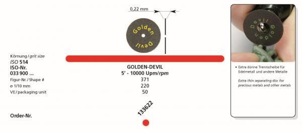 Trennscheiben GOLDEN DEVIL Ø 220 für Edelmetalle und andere Metalle - extra dünn