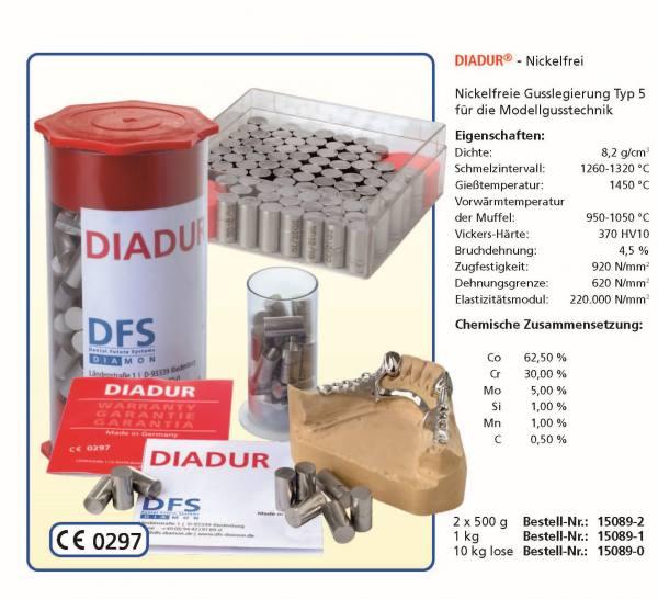 DIADUR® - Nickelfrei - Nickelfreie Gusslegierung Typ 5 - für die Modellgusstechnik