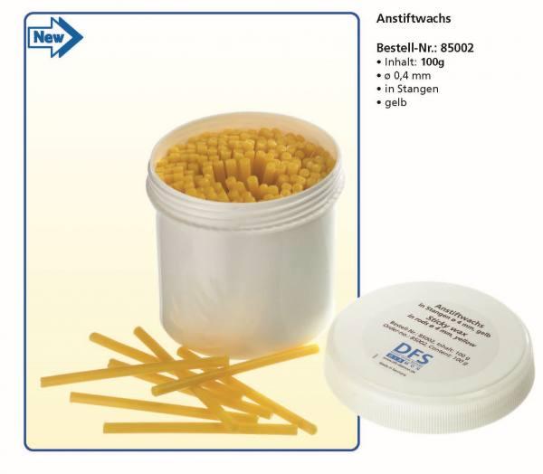 Anstiftwachs - Inhalt 100 g - Ø 4,0 mm, in Stangen, Farbe Gelb