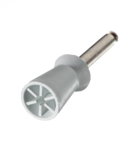Gummipolierer, 6 Lamellen, Schaft 204, latexfrei, Standard