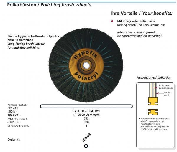 Polierbürste HYPOFIX-POLACRYL - schlammfreies, hygienisches Trockenpolieren von Kunststoff