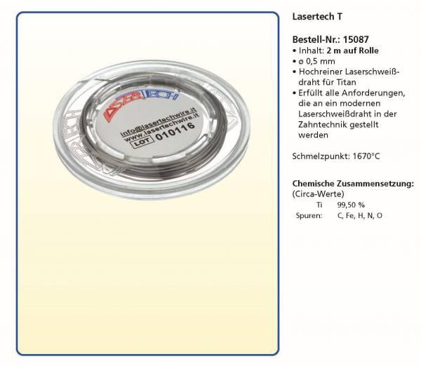 Laserdraht - Lasertech T - 2 m auf Rolle Ø 0,5 mm