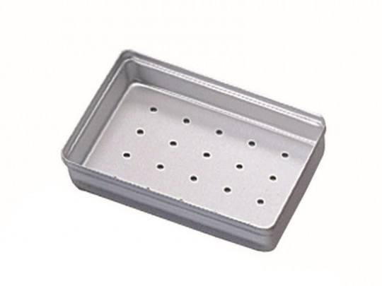 Aluminium Mini-Tray Deckel gelocht, silber