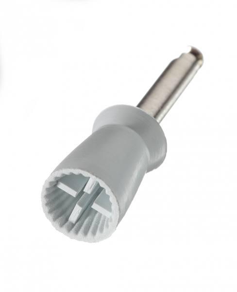 Gummipolierer 4 Lamellen gerippt, Standard