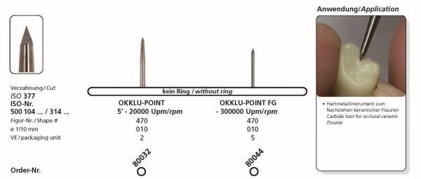 Hartmetallfräse DIADUR Okklu-Point in Schaft HP und FG - VPE. 5 Stck.