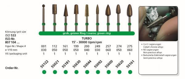 SIDIA Sinterdiamanten TURBO - Schaft 104 HP
