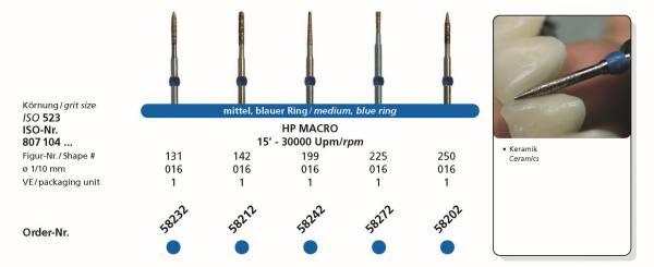SIDIA Sinterdiamanten FG MACRO Kopfgrösse 016 Schaft 104 HP