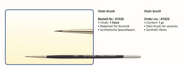 Keramikpinsel Stain brush - Synthetische Spezialfaser - Malpinsel für Keramik
