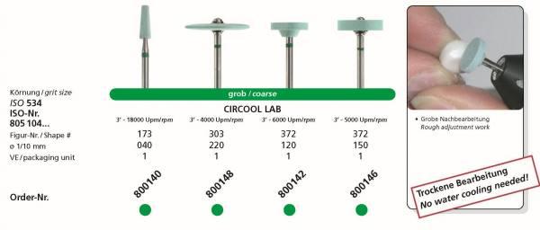Zirkonbearbeitung CIRCOOL LAB Diamantschleifkörper speziell für Zirkon