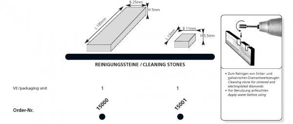 Reinigungssteine für Diamantschleifer Sinter- und galvanische Werkzeuge - erhältich in 2 Grössen