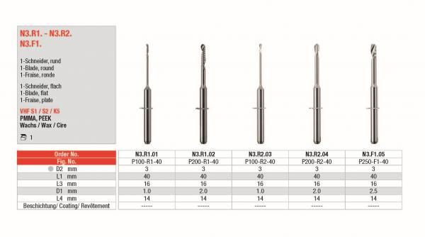 1-Schneider rund und flach - Zur Bearbeitung von PMMA, PEEK, Wachs