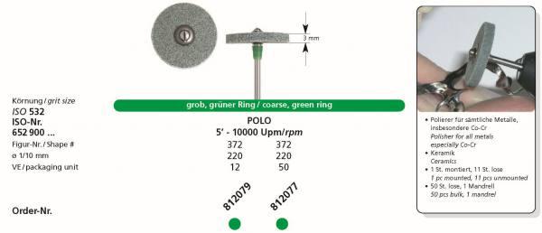 Spezial Polierer POLO - grober Polierer für sämtliche Metalle, insbesonderes Co-Cr und Keramik