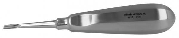 Wurzelheber mit Daumenkehle, gebogen 4mm