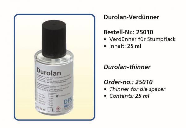 Stumpflack Durolan Set - 3-5 µ, 5µ, 10µ, 13µµ, 15µ, 25µ + Verdünner
