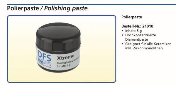 Polierpaste Inhalt 5 g - Hochkonzentrierte Diamantpaste für alle Keramiken und Zirkonmonolithen