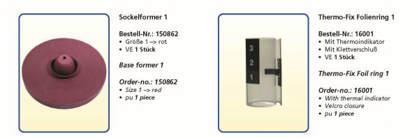 Thermo-Fix 2000 Sockelformer und Folienringe - Grösse 14 , 3 , 6 9