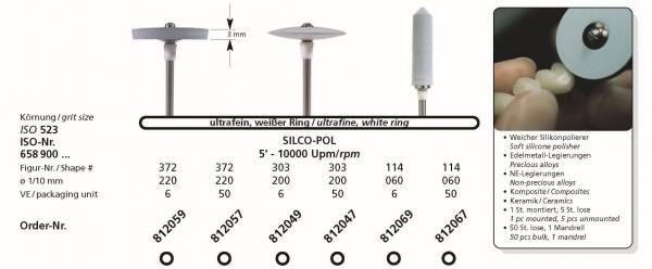 Spezial Polierer SILCO-POL - ultrafeiner Polierer für Edelmetall, NE-Legierungen, Komposite und Keramik