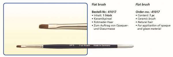 Keramikpinsel Flat brush - Rotmarder-Haar - Zum Auftragen von Opaquer- und Glasurmasse