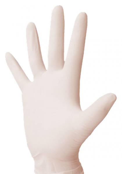 Einmalhandschuhe aus Latex, weiß
