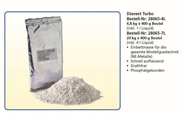 Gießtechnik - Diavest Turbo - Einbettmasse für die gesamte Modellgusstechnik (NE-Metalle)