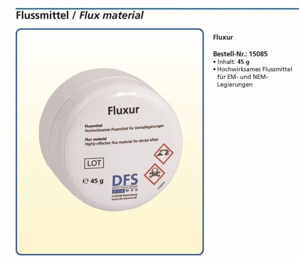 FLUXUR - Flussmittel - Hochwirksam für EM- und NEM-Legierungen. Dose mit 45 g