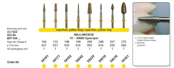 SIDIA Sinterdiamanten MILLI-MICRON - Schaft 104 HP