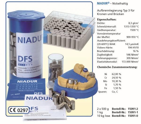 NIADUR - Nickelhaltig - Guss- und Aufbrennlegierung Typ 3