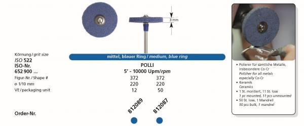 Spezial Polierer POLO - mittlerer (medium) Polierer für sämtliche Metalle, insbesonderes Co-Cr und Keramik