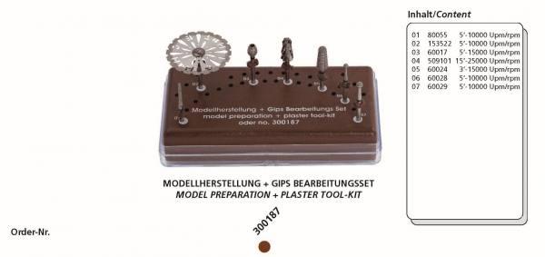 Modellherstellung+ Gips Bearbeitungsset ( 7 Instrumente + Tray)