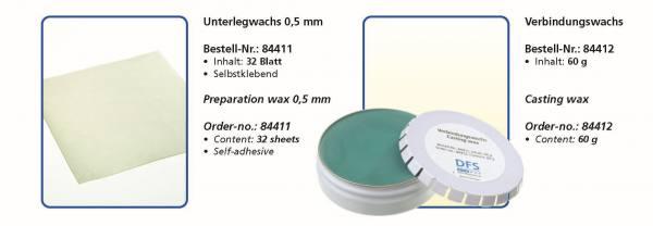 Unterlegwachs 0,5 mm selbstklebend - Verbindungswachs Inhalt 60 g