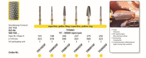 Hartmetallfräse DIADUR TITANO - Einsatzgebiet: Titan, NE-Legierungen, Komposite, lichthärtendes Löffelmaterial