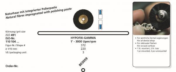 Naturhaarbürste HYPOFIX-GAMMA für sämtliche Dental-Legierungen, für okklusale Flächen