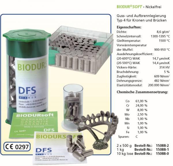 BIODUR-SOFT - Ne-Legierungen - Nickelfrei - Guss- und Aufbrennlegierung Typ 4