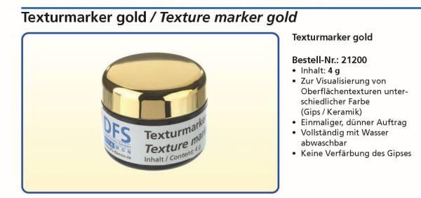 Texturmarker gold