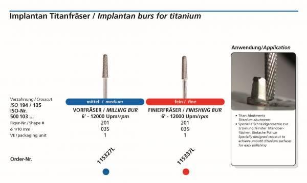 Spezielle Schneidgeometrie zurErzielung feinster Titanoberflächen. Einfache Politur.