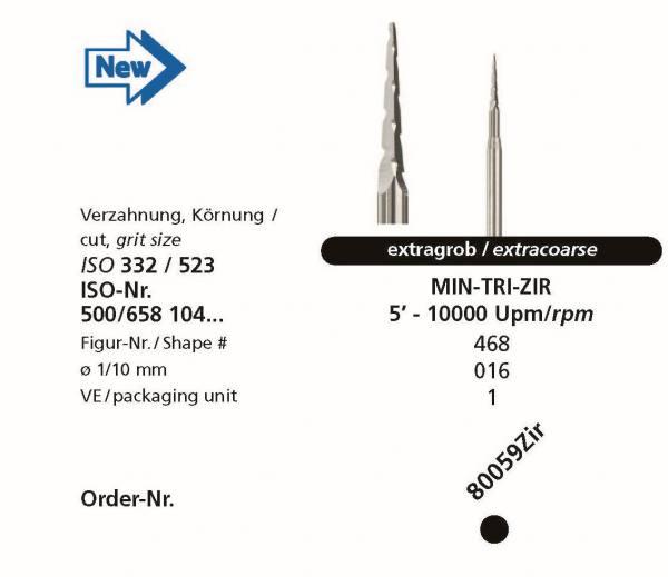 Zirkonbearbeitung MINI-TRI-ZIR - Trennen von Verbindungsstegen im Kreidestadium