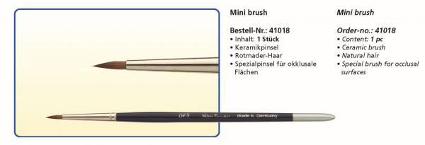 Keramikpinsel Mini brush - Rotmarder-Haar - Spezialpinsel für okklusale Flächen