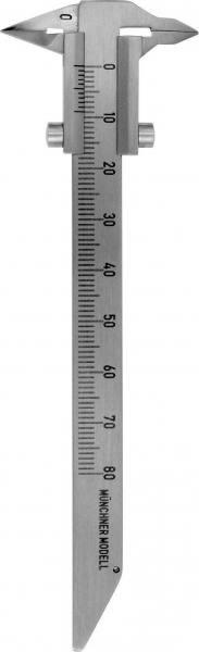 215-31 Schieblehre Münchner Modell. 125 mm / 0 - 80 mm