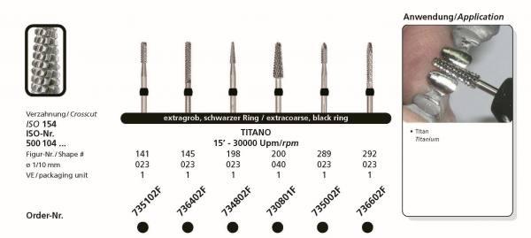 Hartmetallfräse DIADUR TITANO - Einsatzgebiet; Bearbeitung von Titan